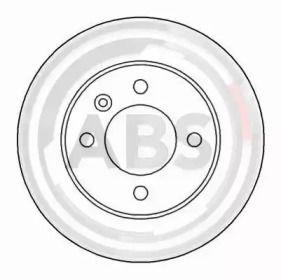 Тормозной диск на Шкода Фаворит 'A.B.S. 15961'.