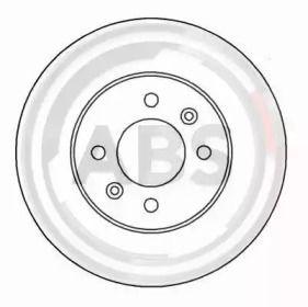 Вентилируемый тормозной диск на SAAB 9000 'A.B.S. 15963'.
