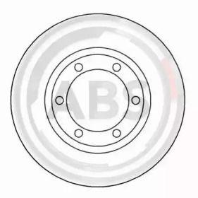 Вентилируемый тормозной диск на Исузу Джемини 'A.B.S. 15971'.