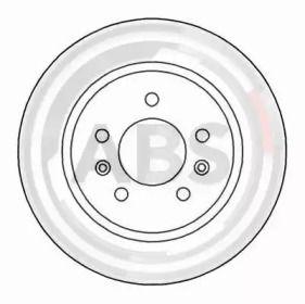 Тормозной диск на PEUGEOT 605 'A.B.S. 15982'.