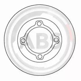 Тормозной диск на KIA PRIDE 'A.B.S. 16017'.