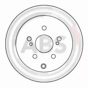 Вентилируемый тормозной диск на TOYOTA SUPRA 'A.B.S. 16033'.