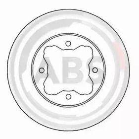 Вентилируемый тормозной диск на ROVER 600 'A.B.S. 16038'.