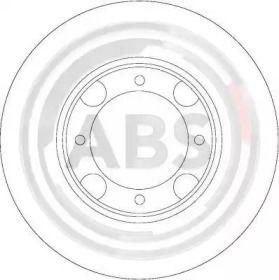 Вентилируемый тормозной диск на Хендай Пони 'A.B.S. 16047'.