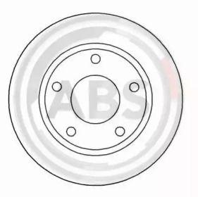 Вентилируемый тормозной диск на Дайхатсу Фероза 'A.B.S. 16049'.