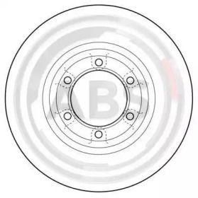 Вентилируемый тормозной диск на Митсубиси Галлопер 'A.B.S. 16074'.