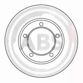 Вентилируемый тормозной диск на Дефендер 'A.B.S. 16135'.
