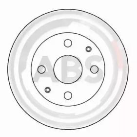Вентилируемый тормозной диск на TOYOTA STARLET 'A.B.S. 16174'.