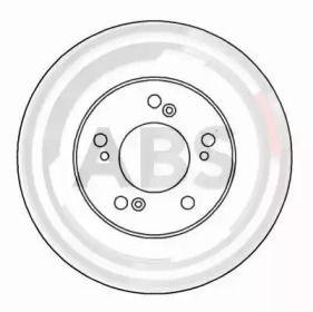 Вентилируемый тормозной диск на HONDA PILOT 'A.B.S. 16182'.