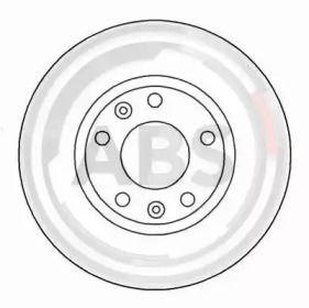 Вентилируемый тормозной диск на PEUGEOT 605 'A.B.S. 16185'.