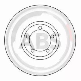 Вентилируемый тормозной диск на FORD TRANSIT TOURNEO 'A.B.S. 16196'.