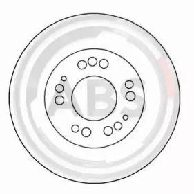 Вентилируемый тормозной диск на MITSUBISHI 3000GT 'A.B.S. 16208'.