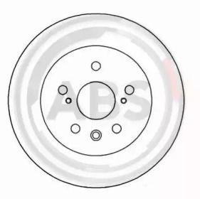 Тормозной диск на Лексус РХ 'A.B.S. 16277'.