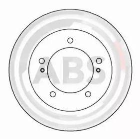 Вентилируемый тормозной диск на Сузуки Джимни 'A.B.S. 16294'.