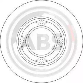 Тормозной диск на DAIHATSU HIJET 'A.B.S. 16324'.