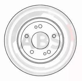 Вентилируемый тормозной диск на MITSUBISHI 3000GT 'A.B.S. 16480'.