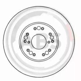 Вентилируемый тормозной диск на Лексус СЦ 'A.B.S. 16493'.