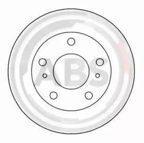 Вентилируемый тормозной диск на NISSAN VANETTE 'A.B.S. 16497'.