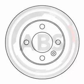 Вентилируемый тормозной диск на VOLKSWAGEN LUPO 'A.B.S. 16541'.