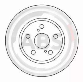 Вентилируемый тормозной диск на Тайота Супра 'A.B.S. 16546'.