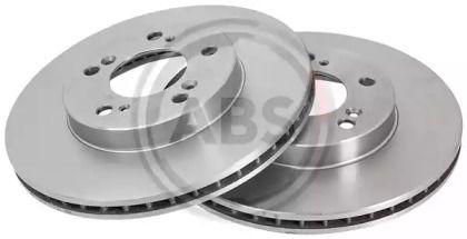 Вентилируемый тормозной диск на Хонда Легенд 'A.B.S. 16588'.