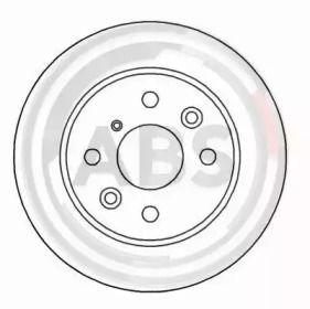 Вентилируемый тормозной диск на Киа Шума 'A.B.S. 16592'.