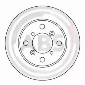 Вентилируемый тормозной диск на SUZUKI BALENO 'A.B.S. 16625'.