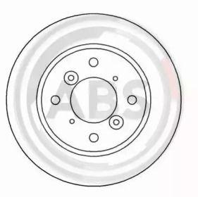 Вентилируемый тормозной диск на SUZUKI LIANA 'A.B.S. 16626'.