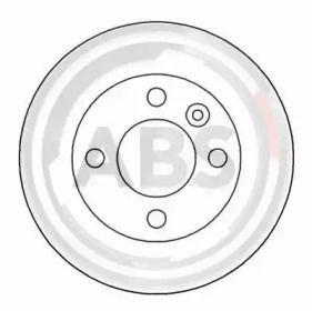 Тормозной диск на SKODA FAVORIT 'A.B.S. 16627'.