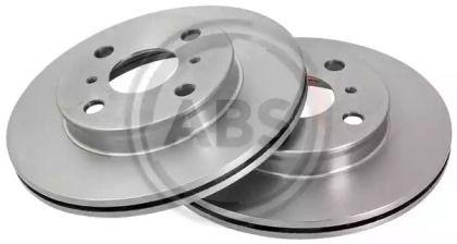 Вентилируемый тормозной диск на TOYOTA STARLET 'A.B.S. 16652'.