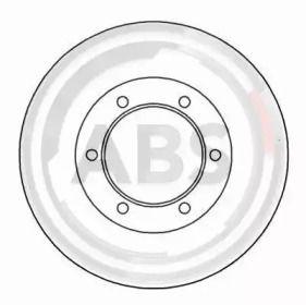 Вентилируемый тормозной диск на Тайота Хайэйс 'A.B.S. 16656'.