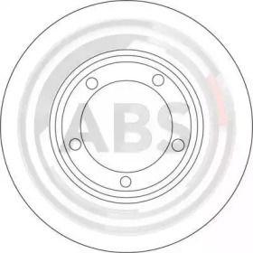 Вентилируемый тормозной диск на MITSUBISHI L400 'A.B.S. 16670'.