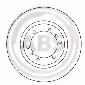 Вентилируемый тормозной диск на Митсубиси Л400 'A.B.S. 16671'.