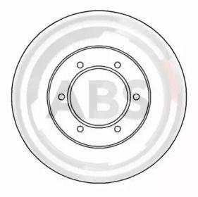 Вентилируемый тормозной диск на KIA PREGIO 'A.B.S. 16910'.