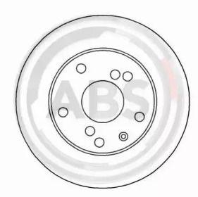 Вентилируемый тормозной диск на DAEWOO LEGANZA 'A.B.S. 16926'.