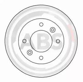 Вентилируемый тормозной диск на KIA CLARUS 'A.B.S. 16936'.
