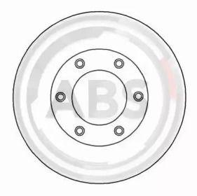 Вентилируемый тормозной диск на Санг Йонг Муссо 'A.B.S. 17015'.