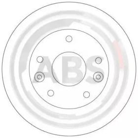 Вентилируемый тормозной диск на KIA CARNIVAL 'A.B.S. 17066'.