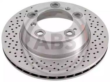 Вентилируемый тормозной диск с перфорацией на Порше 911 'A.B.S. 17070'.