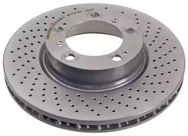 Вентилируемый тормозной диск на Порше 911 'A.B.S. 17071'.