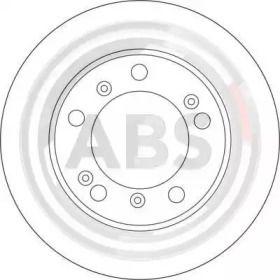 Вентилируемый тормозной диск на Порше Бокстер 'A.B.S. 17073'.