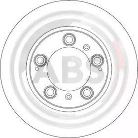 Вентилируемый тормозной диск на Порше Бокстер 'A.B.S. 17074'.