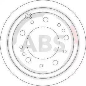 Вентилируемый тормозной диск на Тайота Ленд Крузер 'A.B.S. 17174'.