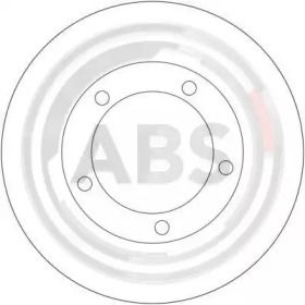 Вентилируемый тормозной диск на TOYOTA LAND CRUISER 'A.B.S. 17189'.