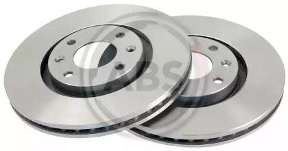 Вентилируемый тормозной диск на PEUGEOT 5008 'A.B.S. 17338'.