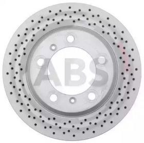 Вентилируемый тормозной диск с перфорацией на Порше 718 'A.B.S. 17877'.