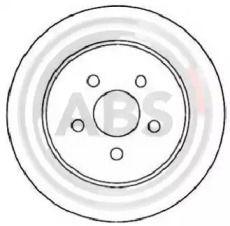 Тормозной диск на Крайслер Пт крузер 'A.B.S. 17953'.