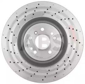Вентилируемый тормозной диск на MERCEDES-BENZ GLS 'A.B.S. 18252'.