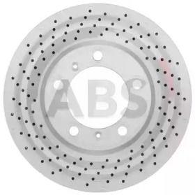 Вентилируемый тормозной диск с перфорацией на Порше Кайман 'A.B.S. 18393'.
