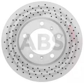 Вентилируемый тормозной диск с перфорацией на PORSCHE CAYMAN 'A.B.S. 18394'.